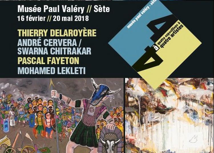 Visite De L'exposition 4 à 4 En Présence Des Artistes à Sete