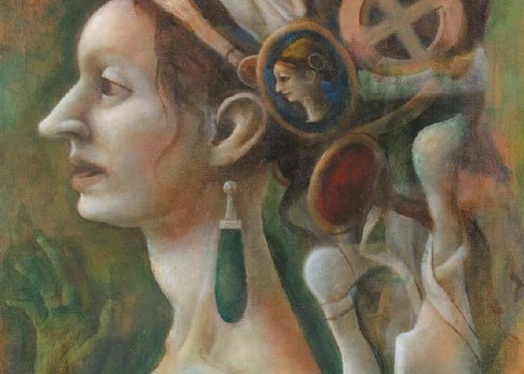 Visite De L'exposition De Paul Storey, Peintures Pour L'eglise En Compagnie De L'artiste à Valence sur Baise