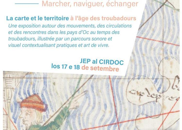 Visite De L'exposition Marcher, Naviguer, Échanger. La Carte Et Le Territoire à L'âge Des Troubadours à Beziers