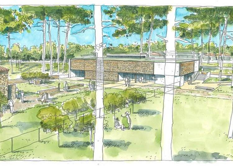 Visite Du Chantier De Construction Du Centre D'interprétation à Le Grand Village Plage
