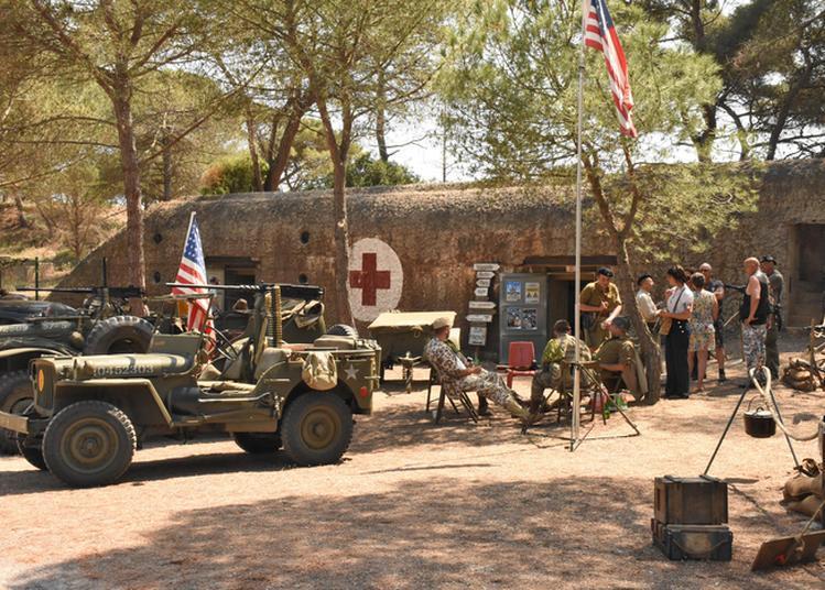 Visite Libre D'un Bunker-infirmerie De La Seconde Guerre Mondiale Avec Renconstituteurs. à Agde