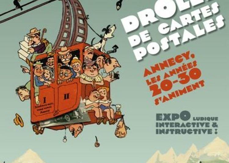 Visite Libre De L'exposition : Drôles De Cartes Postales à Annecy