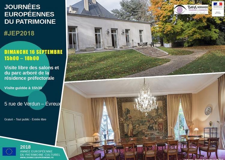 Visite Libre Des Salons Et Du Parc Arboré De La Résidence Préfectorale à Evreux