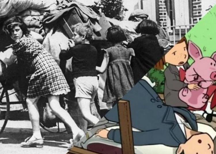 Visite-projection L'exode à Hauteur D'enfants à Paris 14ème