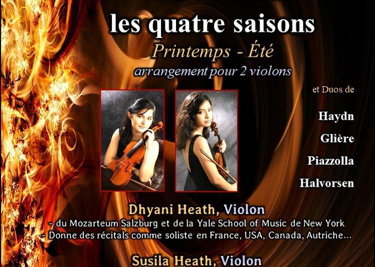 Vivaldi, les quatre saisons : version pour 2 violons à Paris 8ème