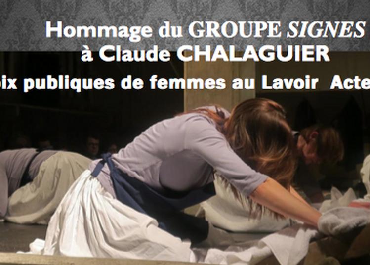 Voix Publics de Femmes au lavoir à Lyon