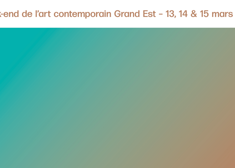 Week-end de l'art contemporain Grand Est 2020 à Metz