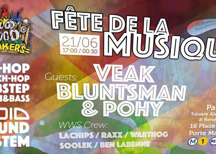 Woody Wood Speakers : Fête de la Musique Open Air Sound System ( Hip-Hop , Reggae , Dubstep , Drum And Bass ) à Paris 17ème
