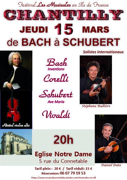 Concert de bach schubert chantilly jeudi 15 mars 2018 - Jeudi de l ascension 2018 ...