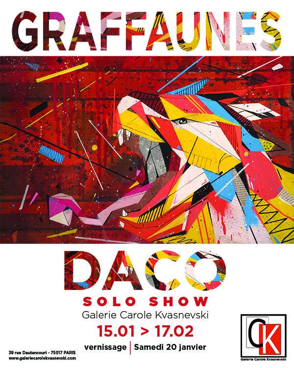 Exposition graffaunes by daco paris du 15 janvier au 17 for Expo paris fevrier