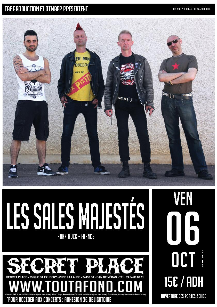 concert les sales majest s montpellier saint jean de vedas vendredi 6 octobre 2017. Black Bedroom Furniture Sets. Home Design Ideas