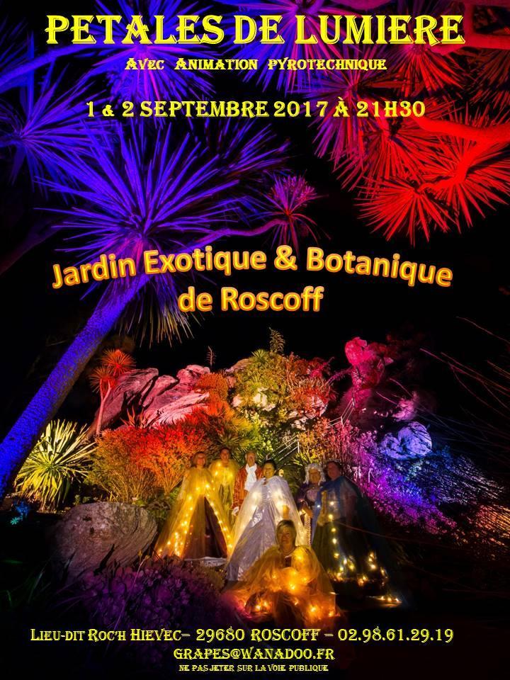 Spectacle p tales de lumi re au jardin exotique et botanique de roscoff samedi 2 septembre 2017 - Jardin exotique de roscoff paris ...